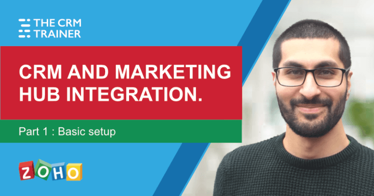 Zoho CRM and Zoho Marketing Hub integration p1