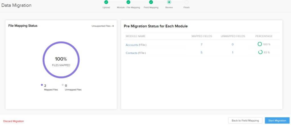Data Migration Step 7 - Migration Status