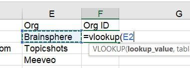 vLookup Step 2 - Lookup_Value
