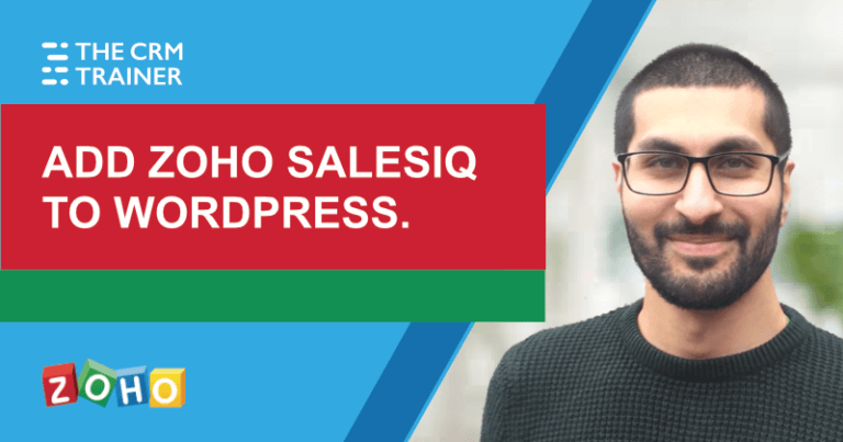 Adding Zoho SalesIQ to Wordpress