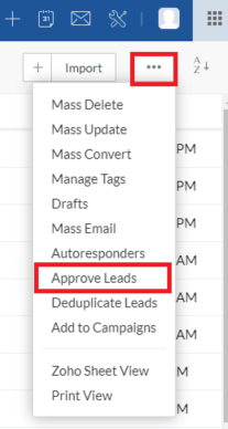 CRM Approve Lead