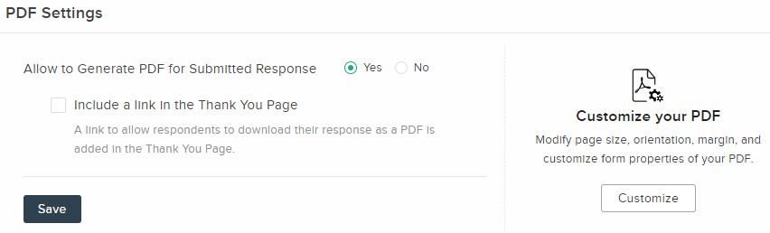 PDF Settings