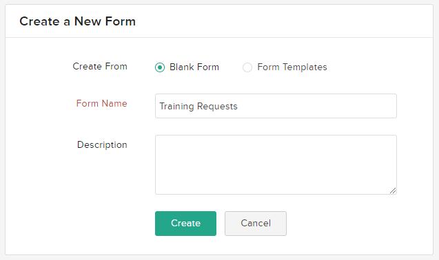 Naming you Zoho Form